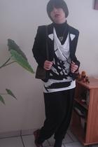 La halle blazer - Kookai panties - Kookai t-shirt - Pimkie shoes - Oh My Shop ne