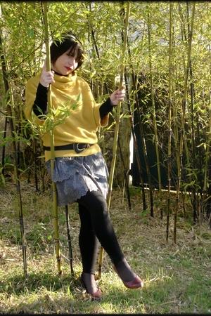 camaieu jacket - camaieu skirt - vintage belt - jennyfer leggings - Pimkie shoes