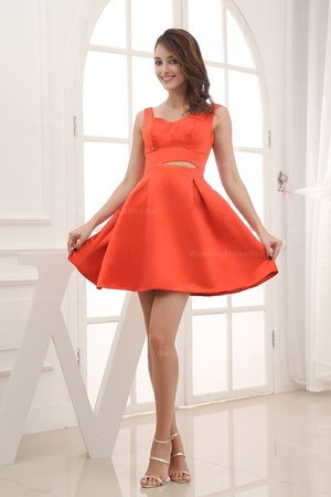red dress - carrot orange