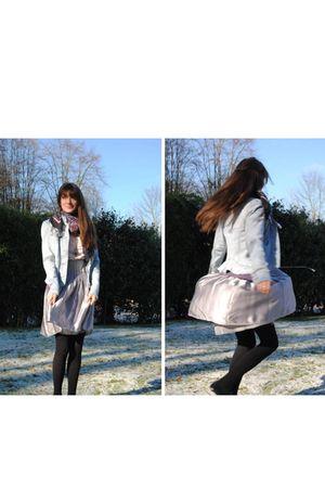silver Stella Cadente skirt - beige Gap shirt - black Promod accessories - blue