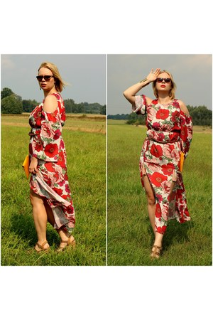 red zaful dress