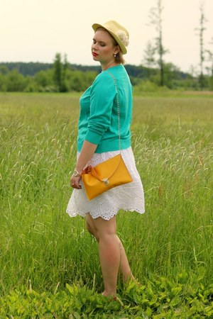 white Mango skirt