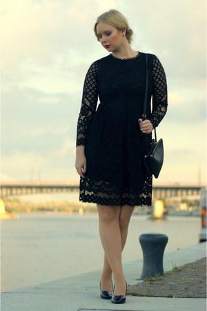 black zaful dress