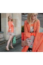 light orange chicnova blazer
