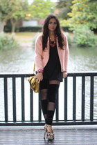 asos leggings - peach H&M jacket - Phillip Lim bag - Topshop heels