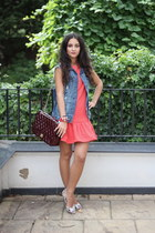Chanel bag - red Topshop dress - Zara jacket