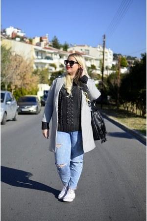 H&M jeans - Choies coat - H&M sweater