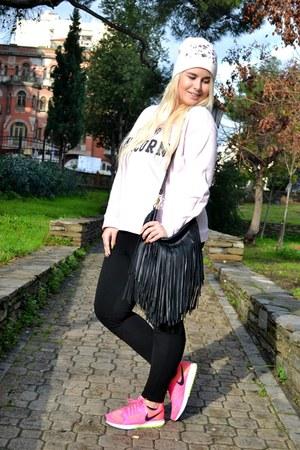 H&M bag - nike sneakers - pull&bear hoodie