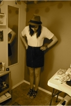 skirt - American Apparel shirt - ecote shoes - UO hat