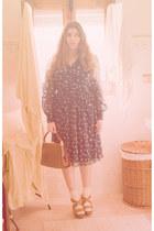 vintage dress - vintage bag - Laocoonte clogs