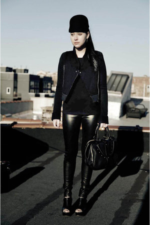black minimarket hat - black Stella McCartney for Adidas jacket - black Alexande