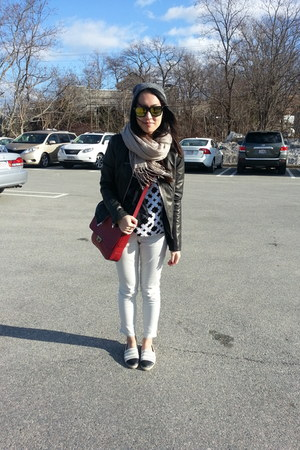 loeffler randall flats - Express jacket - Club Monaco pants - Missguided top