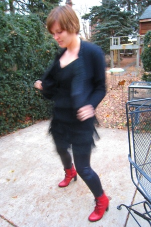 vintage sweater - uniquevintagecom dress - silence and noise tights - Urban Outf