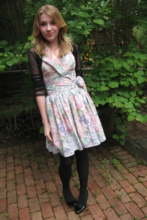 vintage dress - flea market top - payless shoes