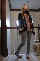 Platos Closet scarf - Goodwill sweater