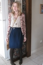 Gap top - Old Navy sweater - vintage skirt - Old Navy purse - Goodwill shoes - J