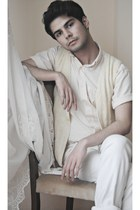 vintage shirt - Vintage costume vest - Zara pants