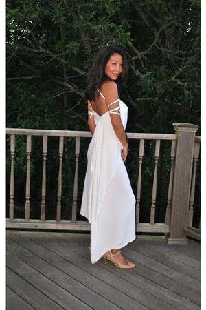 white marsilia dress