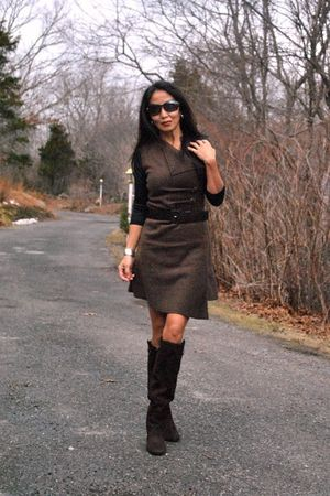 brown marsilia dress