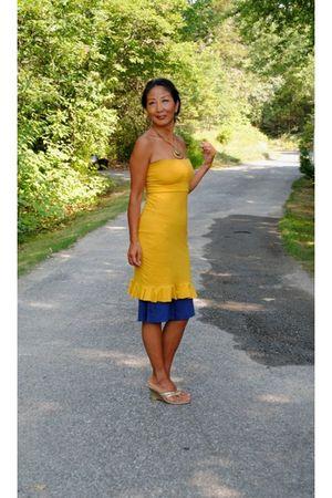 gold marsilia dress