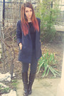 Dark-brown-zara-boots-navy-zara-coat-charcoal-gray-bershka-leggings