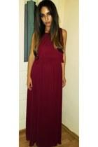 crimson koton dress