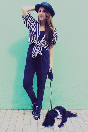striped shirt - playsuit pants