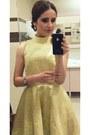 Miss-selfridge-dress-heels-diesel-watch-earrings