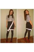 skirt - heels - blouse - panties