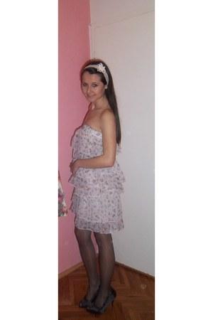 dress - tights - heels