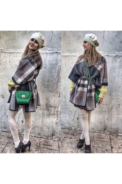 sweater - Atmosphere boots - leggings - Atmosphere purse - Atmosphere cape
