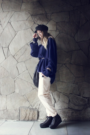 navy H&amp;M hat - navy Maison Martin Margiela for H&amp;M sweater