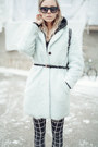 Light-blue-wool-h-m-coat-black-cotton-h-m-leggings-black-h-m-bag