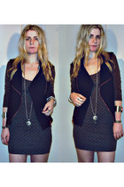 wearhouse dress - vintage vest