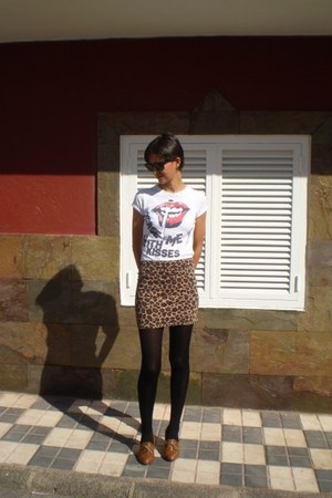 camel Zara skirt - Zara boots - Zara shirt