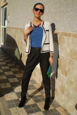 Zara jacket - Zara sweater - Zara bag - Promod pants