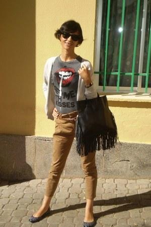 El Caballo bag - Zara cardigan - Zara pants