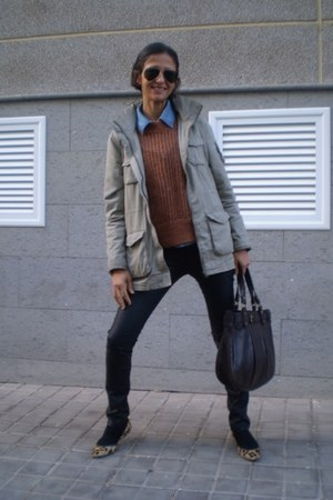 H&M jacket - Zara sweater - Zara bag - Zara pants - Zara flats