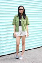 chartreuse army vintage jacket - light pink drew bag Chloe bag