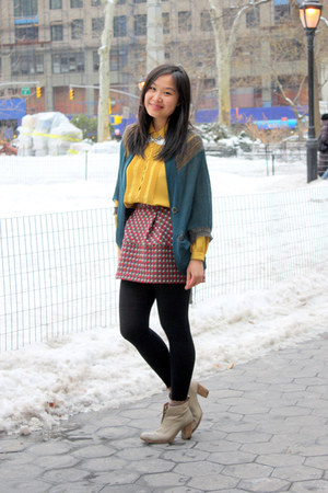 pink mini skirt Dazzle skirt - heather gray ankle boots Initial boots