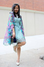 Light-blue-floral-dress-sugarlips-dress-navy-unknown-bag
