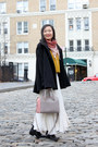 Black-ankle-boots-zara-boots-ruby-red-zara-scarf-heather-gray-kate-spade-bag