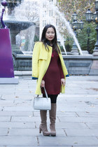 yellow yellow Coiincos coat - heather gray platform nice claup boots