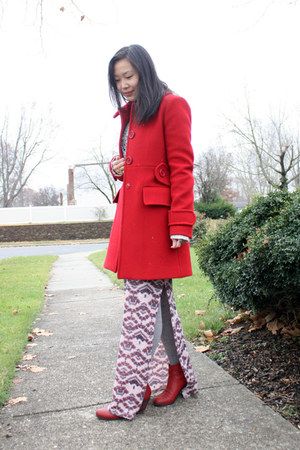 red ankle boots sam edelman boots - pink maxi dress free people dress