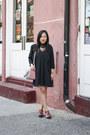 Brown-floral-coach-boots-black-free-people-dress-black-topshop-blazer