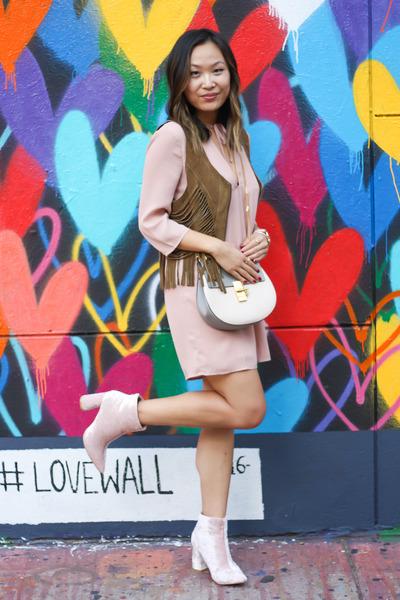 ff2ab42b96 Pink Tobi Dress at the Love Wall