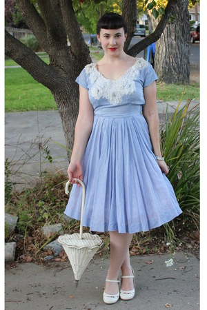 light blue vintage dress