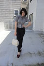 Black-h-m-blouse-black-zara-pants-black-vintage-flats