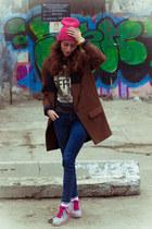 brown Zara coat