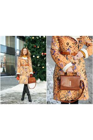 burnt orange VISAVIS bag - gold Bershka sweater - burnt orange H&M belt